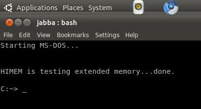 Emulate the MS-DOS prompt | The Ubuntu Incident